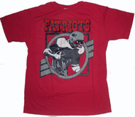 Junk Food Mens NFL Crackle Vintage New England Patriots Tee Shirt