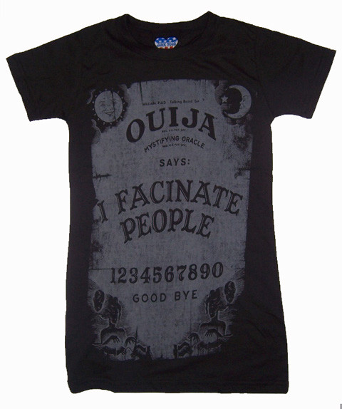 Junk Food Ouija Board I Facinate People Womens Tee Shirt