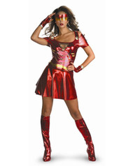 Deluxe Womens Sassy Iron Man 2 Ironette Costume