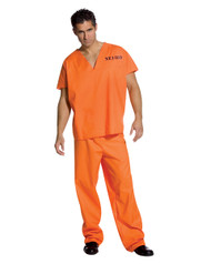 Jailhouse Jumpsuit Costume for Adult