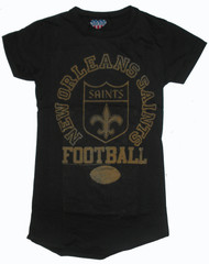 Junk Food NFL New Orleans Saints Girly T-Shirt with Flocking