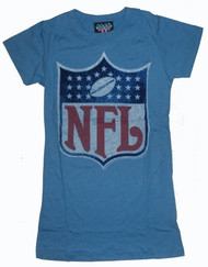 Junk Food NFL Logo Girly T-Shirt with Flocking