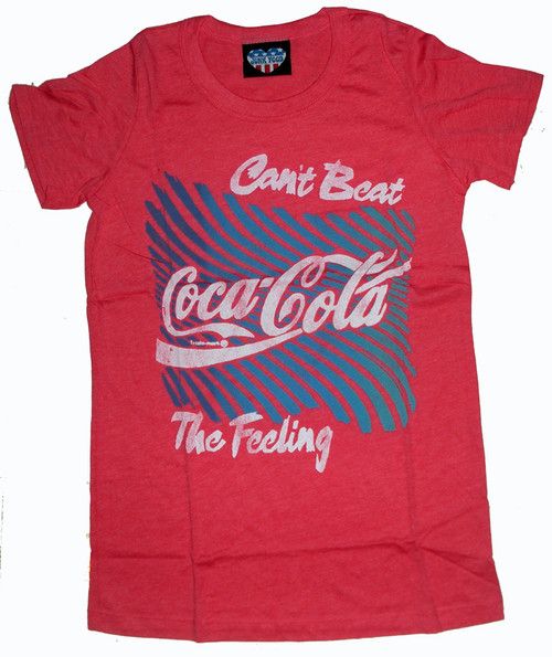 Cant Beat The Feeling Womens Coke T Shirt by Junk Food Clothing