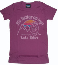 Little Miss Naughty Lake Tahoe Better on Top Womens Tee Shirt by Junk Food Clothing