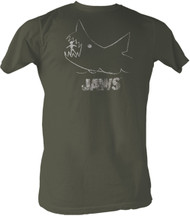Jaws Chalkboard Mens Tee Shirt