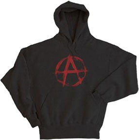 Anarchy Symbol Pull Over Mens Hoodie