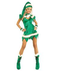 Sexy Womens Green Elf Costume