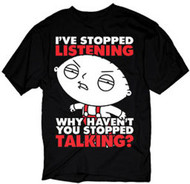 The Family Guy Ive Stopped Listening Mens Tee Shirt