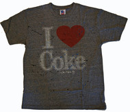Mens Junk Food I Love Coke Splatter Tee Shirt