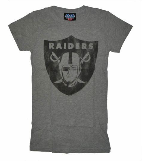 Junk Food NFL Oakland Raiders Gray Womens T Shirt