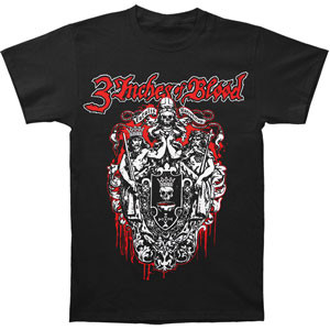Three Inches of Blood Coat of Arms Skull Logo Tee Shirt