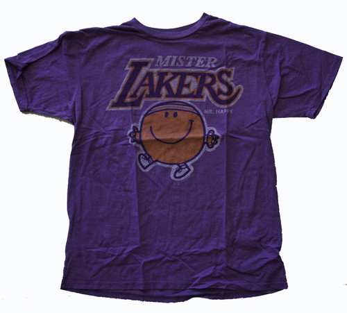 Junk Food Mens NBA Mister Lakers Mr Happy Tee Shirt