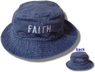 Faith Hill Denim Bucket Cap With Logo