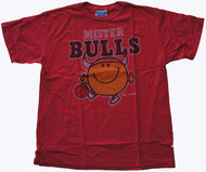 Junk Food Mens NBA Mister Bulls Mr Happy Tee Shirt
