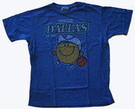 Junk Food Mens NBA Mister Mavericks Mr Happy Tee Shirt