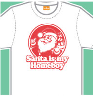 Santa Is My Homeboy Mens Tee Shirt