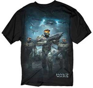 HALO WARS BATTLE SCENE MENS TEE SHIRT
