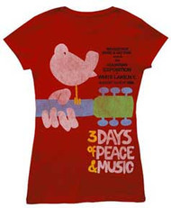 WOODSTOCK UPSTATE '69 JUNIORS EXTRA LIGHTWEIGHT TEE SHIRT