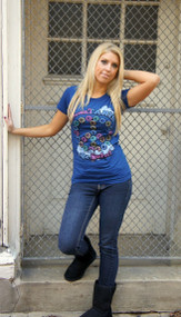 Sweetarts Be Sweet Womens Tee Shirt in Midnight Blue by Junk Food Clothing