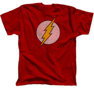Vintage Style The Flash Distressed Logo Mens Tee Shirt