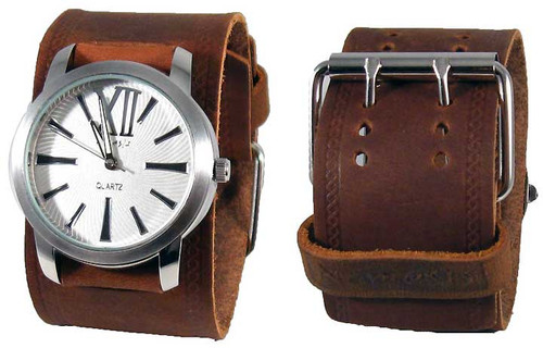Nemesis Brown Retro Sports Cuff Watch