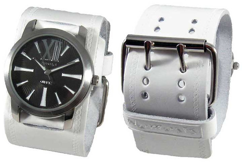 Nemesis White Retro Sports Cuff Watch