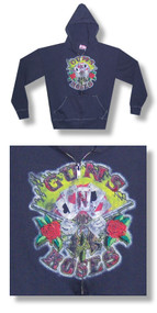 Guns N Roses Cards SWAG Zip Up Adult Hoodie