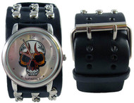Nemesis Tribal Skull Chains Cuff Watch