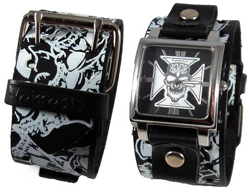 Nemesis Skull Band Independent Cuff Watch