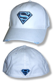 Superman Blue Logo Distressed Rim Cap