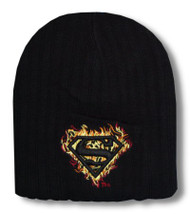 Superman Flames Knit Beanie