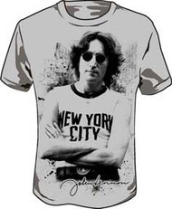John Lennon New York Mens Tee Shirt