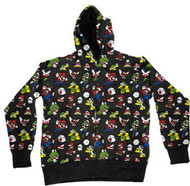 NINTENDO MARIO ALL OVER MENS HOODIE