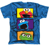 Sesame Street Character Faces Youth Tee Shirt