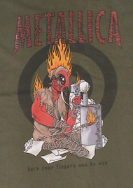 Metallica  Burn Mens T-Shirt