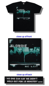 Blondie No Exit Band Photo Mens T-Shirt