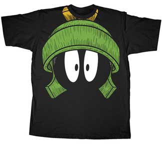 Looney Toons Big Worried Marvin The Martian Mens T Shirt