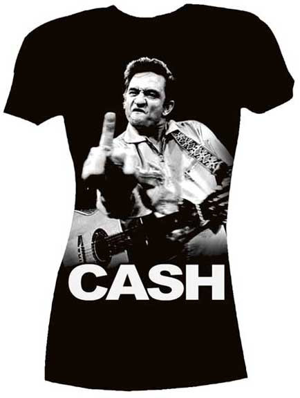 Johnny Cash Flippin Ladies Tee Shirt Shirt