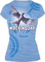 THE HUNGER GAMES MOCKINGJAY BOOKART JUNIORS VINTAGE STYLE T SHIRT