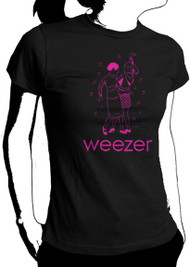 Weezer Dancing Girls Juniors Tee Shirt