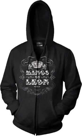 Kings of Leon Logo Crow Adult Zip Hoodie