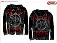 Slayer Huge Eagle Mens Zip Up Hoodie