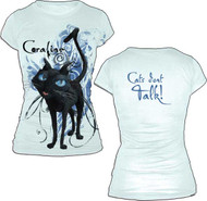 Coraline Cats Dont Talk Juniors T Shirt