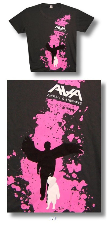 Angels and Airwaves Pink Angel Juniors Vintage Style T Shirt