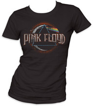 PINK FLOYD DARK SIDE OF THE MOON JUNIORS DISTRESSED TEE SHIRT