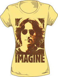 John Lennon Imagine Vintage Style Juniors Tee Shirt