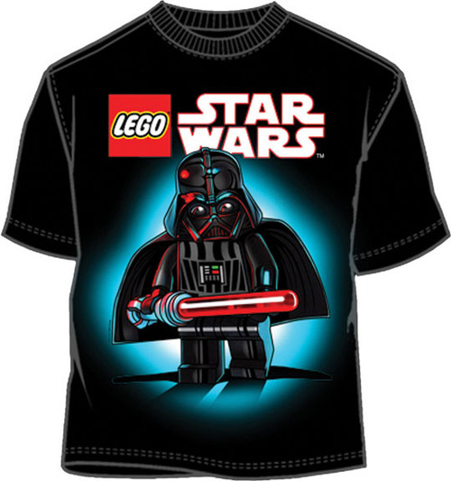 Lego Star Wars Shiny Vader Boys Tee Shirt