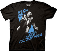 THE NAKED GUN LESLIE NIELSEN FULL COURT PRESS MENS TEE SHIRT
