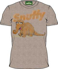Sesame Street Snuffy Heather Brown Vintage Mens Tee Shirt
