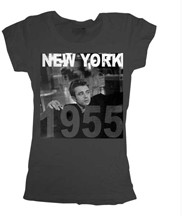 James Dean NY 1955 Vintage Style Juniors Tee Shirt